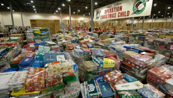 Operation Christmas Child Processing
