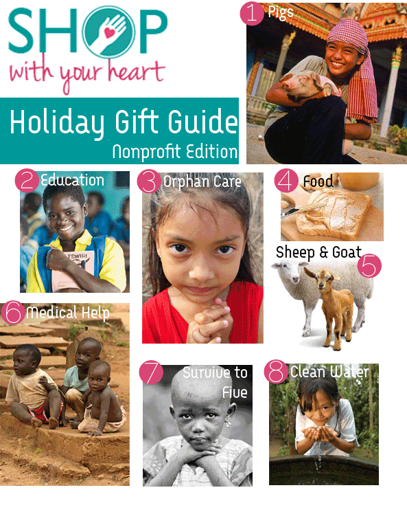 Shop with your Heart Holiday Gift Guide Nonprofits