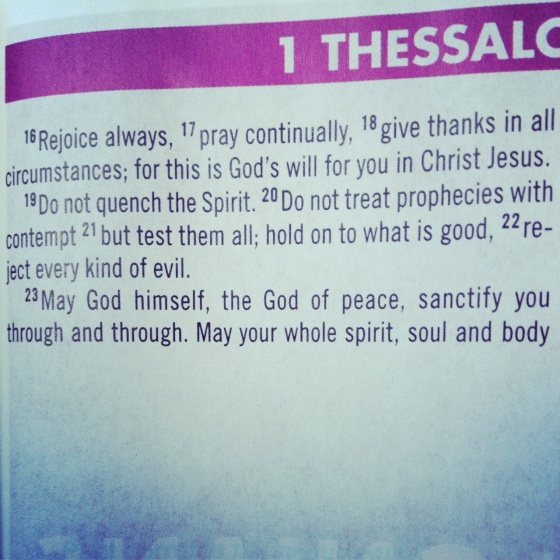 1 Thessalonians 5:16-22