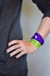 She Does Justice purple green bracelet