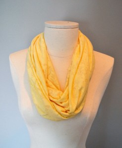 She Does Justice yellow burnout scarf