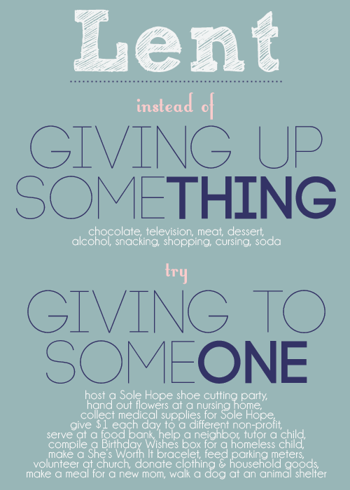 Giving to Someone Lent