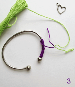 Easy DIY Bracelet Step 3