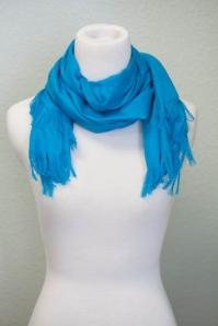 Lisa Leonard aqua blue scarf