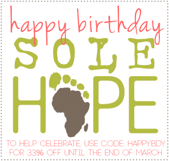 Sole Hope Birthday March Code